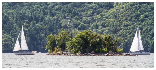 Diamond Island, one of three Lake Champlain sites maintained by the Vermont Monitoring Cooperative.
