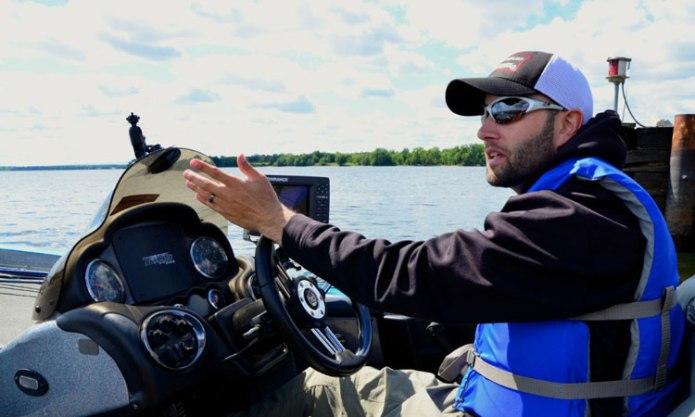 Pro fisherman Tommy Waltz of Georgia. -- Andrew Nemethy photo.